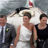 sydney harbour wedding boat bride